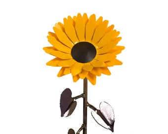 Metal Sunflower • Iron Anniversary • 6th Anniversary • Hand Forged • Wrought Iron • Blacksmith • Personalized Gift • Valentines Day