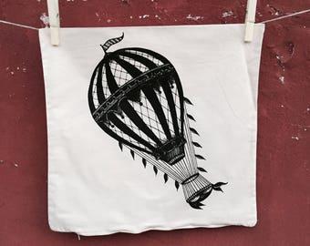 hot air balloon Cushion Cover,  Decorative Pillow, circus pillow, balloon pillow, home decor, vintage cushion cover, printed pillow cover