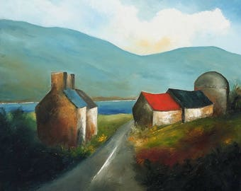 On a Connemara Road - Hand Painted Pigment Print