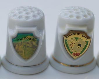 4 USA , (Lake of the Ozarks, M0, Arizona-2, Atlantic City) Shield Thimbles