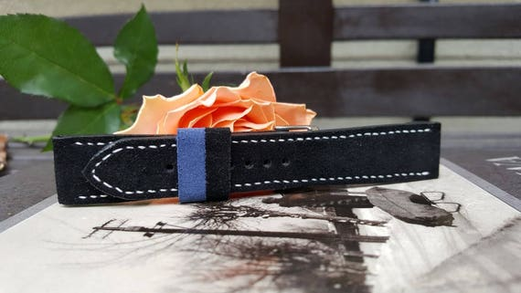 Italian Suede Watch Strap - Handmade 02