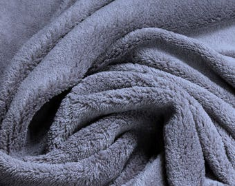 Fabric polyester wellness fleece grey cuddly fleece mouse grey