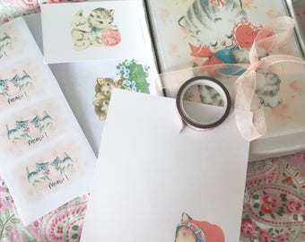 Little box of stationery - Kitten Smitten