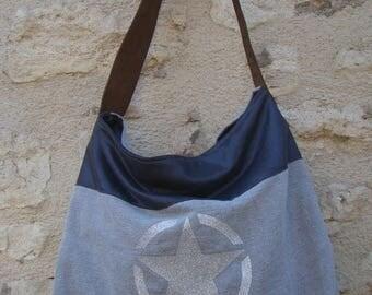 "BAG ""BARJOL"" large grey star"