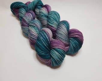 Hand dyed Merino yarn, ARAN weight, 100g, LYDIA, Best Friends edition