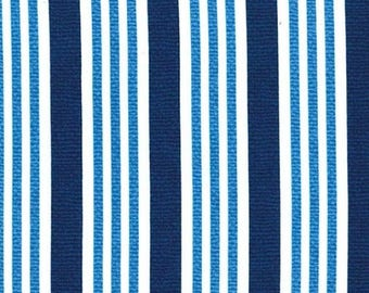 Everyday Navy Blue and White Stripe by Michael Miller - CX6969-BLUE-D