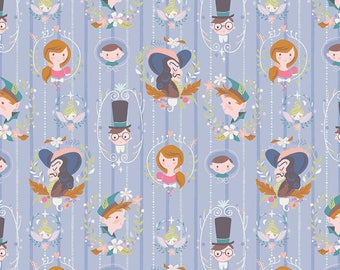 1 Yard Neverland by JIll Howarth for Riley Blake Designs- 6571 Periwinkle Darling Wall