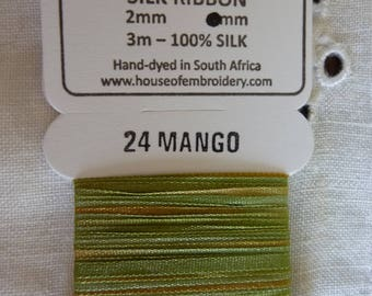 House of Embroidery collar 24 MANGO 2mm Silk Ribbon
