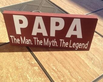 Papa the man the myth the legend etsy papa the man the myth the legend wood sign great gift for papa or grandpa sciox Gallery