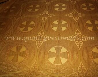 GOLD NONMETALLIC Liturgical Vestment Brocadewidth is 59'' (150cm) 15%OFF