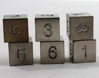 Zucati Dice: Titanium 6d6 Set Square Corners