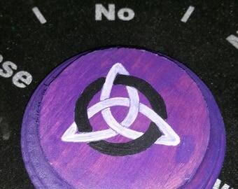 Altar Tile, Triquetra Altar Tile, Pagan Tile, Wiccan Tile, Witchcraft Triquetra Altar Tile, Witch Tile, Purple Altar Tile Purple Triquetra