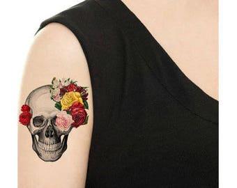Temporary Tattoo -   Candy Skull - Various Patterns / Tattoo Flash