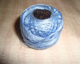 Pearl cotton yarn has overcast No. 8 blue