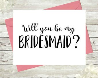 Will you be my bridesmaid card, Bridal party proposal, Bridesmaid, Maid of Honor, Wedding party, Instant Download, Printable, Card, Gift