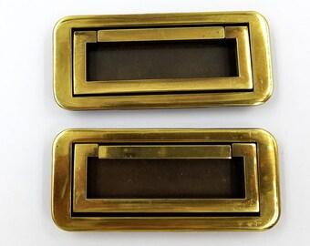 Pair of Brass Inset Drawer Pulls