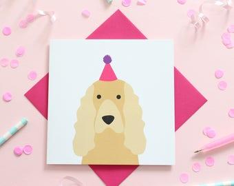 Birthday Cocker Spaniel Cards