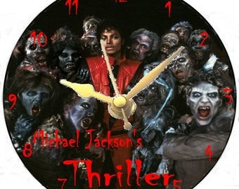 Michael Jackson Thriller CD clock