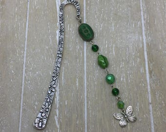 Bookmark green butterfly