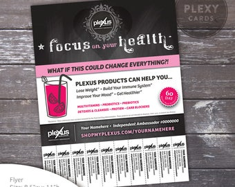 Plexus Promo Flyer - Chalkboard Design With Tear Off Tabs [Digital File]