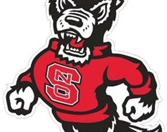 NC State Wolfpack Large Premium Die-Cut Vinyl Decal / Sticker
