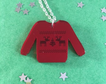 Christmas Jumper Pendant Necklace