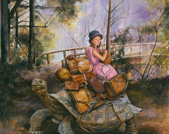 Greeting Cards, Birthday Cards, The Long Way, Giant Tortoise