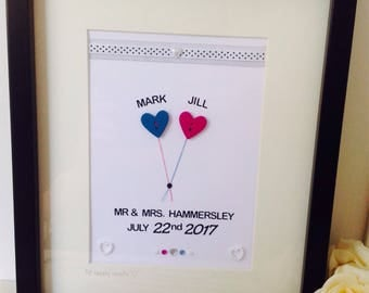 Personalised Wedding Frames - Personalised Wedding Gifts - Personalised Mr & Mrs Frames - Anniversary Gifts - Anniversary Frames