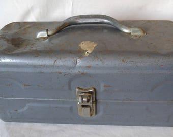 Vintage Tackle Box, Metal Tackle Box, Fishing Supplies, Metal Box, Swift Tackle Set, Fishing Gear, Fishing Suplies, Sportsmans Box