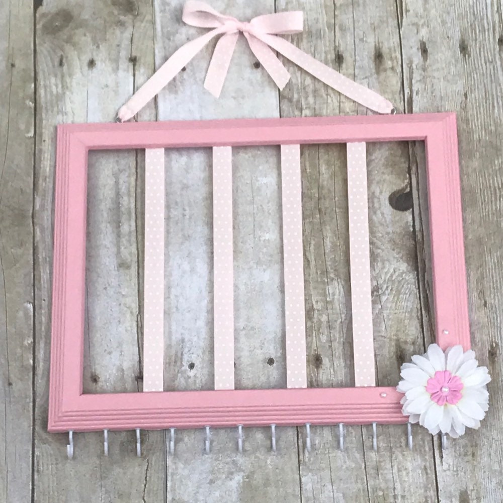 Gold and Light Pink hair bow holder pink and Gold nursery