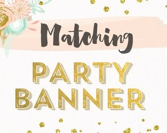 Printed Matching Banner Made to Match any Design from Cardmint