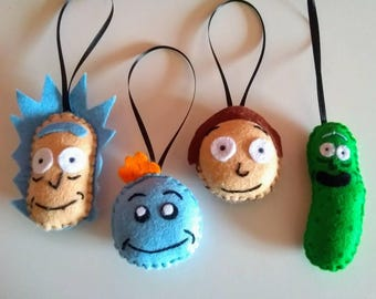 Handmade Rick and Morty Plush Baubles