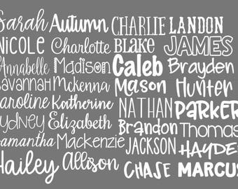 Name Decal | Vinyl Name Decal | Name Sticker | Vinyl Decal | Word Decal | Personalized Name Decal | Word Vinyl Decal | Any Word Decal