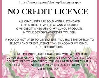 CU4CU No Credit Licence,  No Credit Licence for CU4CU Kits & Resources