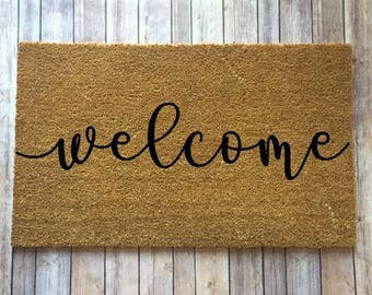 cute welcome mats welcome mat etsy 3070
