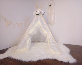 S LACEY toddler teepee/photo prop tent / Kids play tent/ baby teepee photo prop