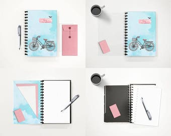 Personalized Smart Notebook Removable Pages Spiral Traveller's Notebook Ring Binder Planner Bullet Journal Starter Kit • Bujo Take a Ride