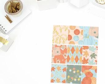 Autumn Memories Full Boxes Stickers! Perfect for your Erin Condren Life Planner, calendar, Paper Plum, Filofax!