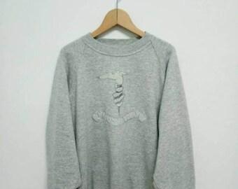 20% OFF Vintage Trussardi Sweatshirt/Trussardi Sweater/Trussardi Crewneck/Trussardi Big Logo