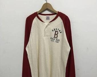 20% OFF Vintage Boston Red Sox Long Sleeve/Baseball Clothing/Red Sox