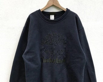 "20% OFF Vintage Timberland Embroidery Big Logo Sweatshirt / Timberland Crewneck / Timberland Clothing / Armpit 22.5"""