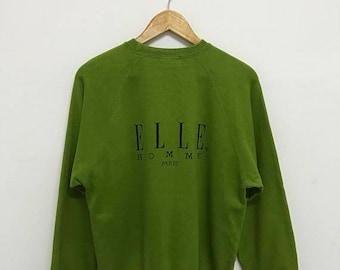 20% OFF Vintage Elle Homme Paris Sweatshirt/Elle Sport Sweater/Elle Spell Out Shirt/Elle Big Logo