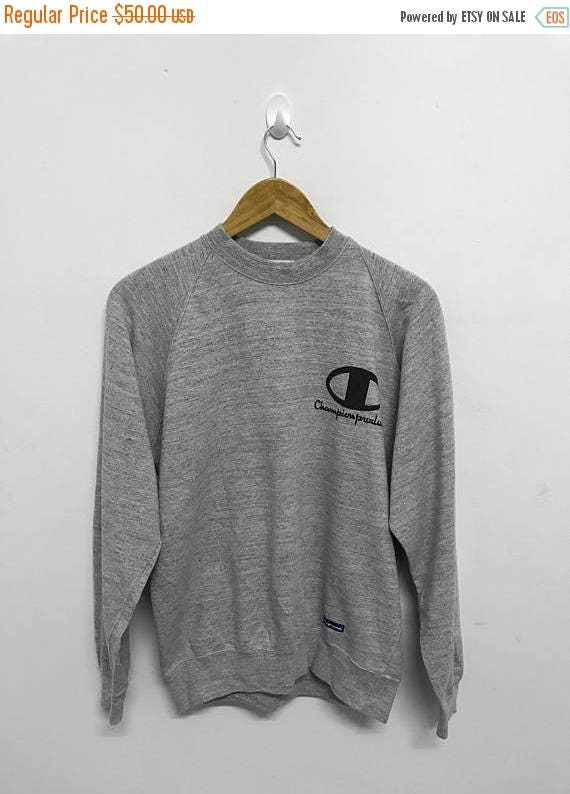 20% OFF Vintage Champion Big Logo Sweatshirt/Champion Sweater/Champion Clothing/Champion Spellout/Champion Crewneck zRLxGznT