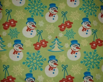 Snowmen, flannel, flannel