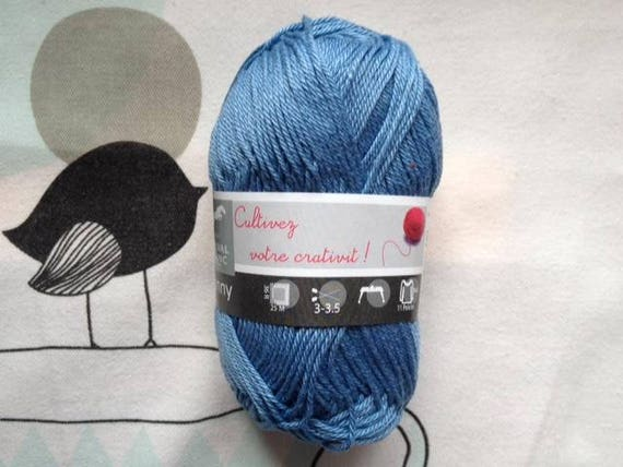 WOOL SUNNY blue - white horse