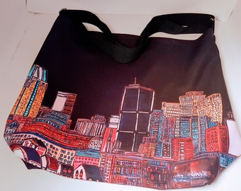 SAC-fourre-tout-a-tout-faire Montreal in all black - ALL Black Day Montreal Tote Bag