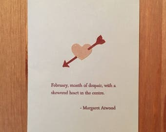 despair quote margaret atwood vday card