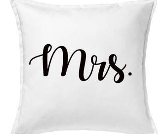Mr. & Mrs. Couples Pillows Just Married Pillows His and Hers Matching Pillows