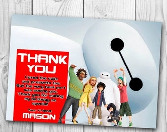 Big Hero 6 Thank You Card - Big Hero 6 Thank You Note - Big Hero 6 Printables - Baymax Thank You Card