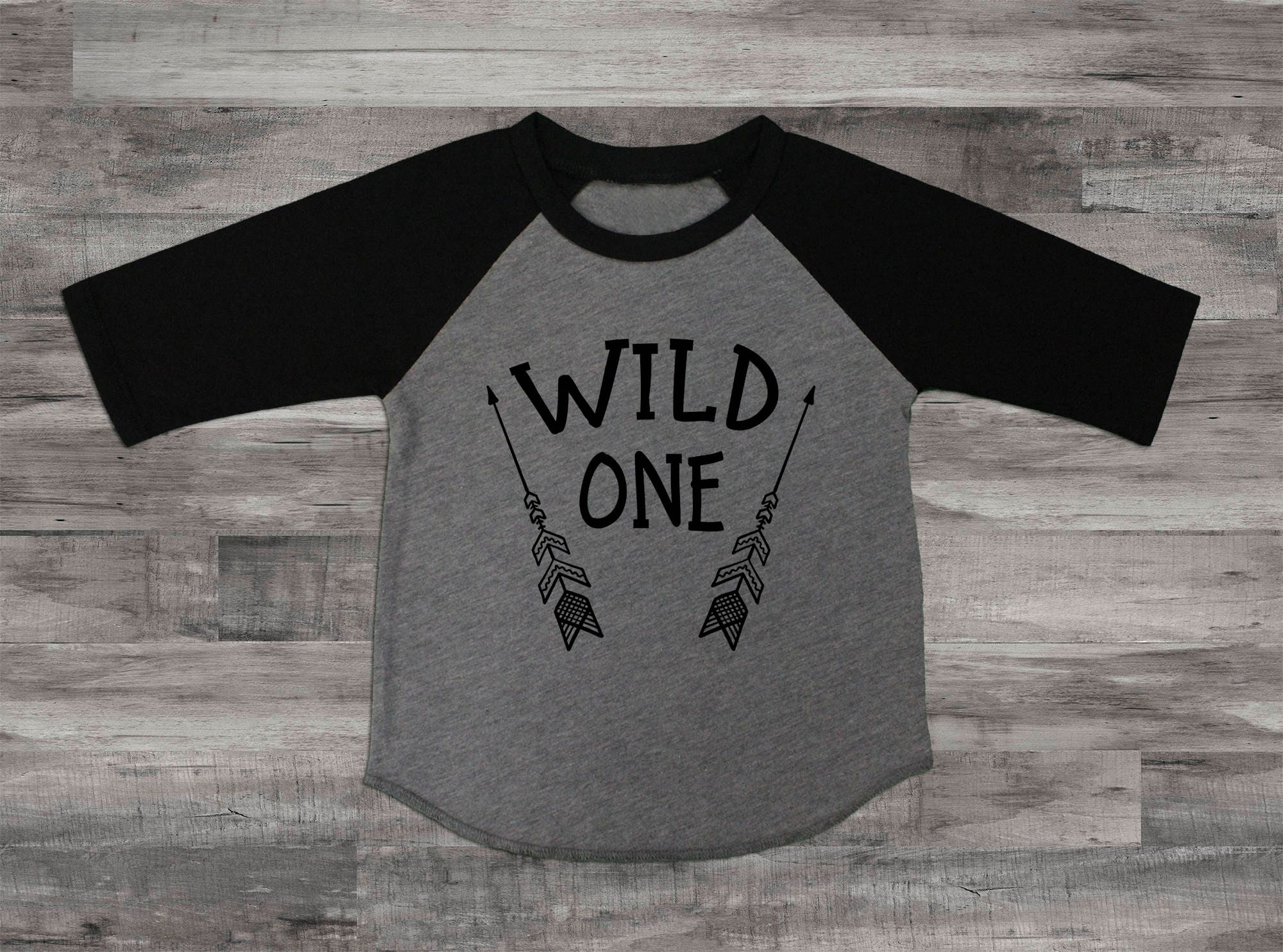 1st Birthday Boy Shirt First Tee Outfit Wild One